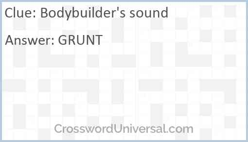 Bodybuilder's sound Answer