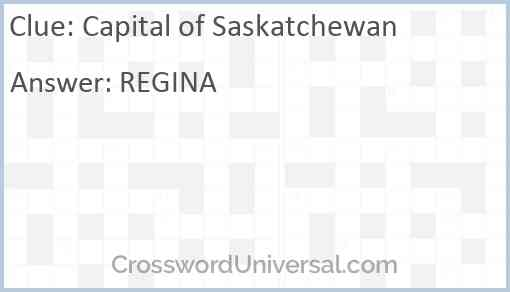 Capital of Saskatchewan Answer