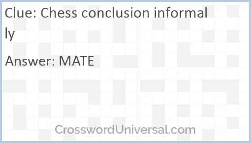 Chess conclusion informally Answer