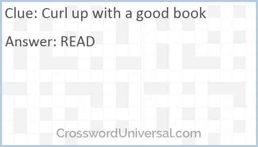Curl up with a good book Answer