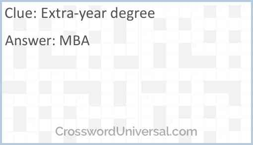 Extra-year degree Answer