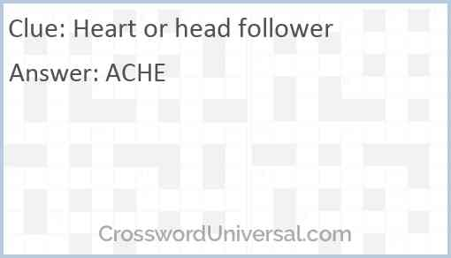 Heart or head follower Answer