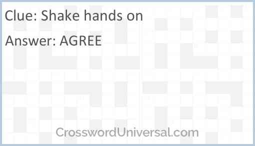 Shake hands on Answer