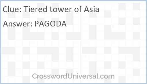 Tiered tower of Asia Answer